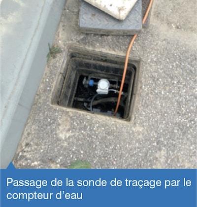 RECHERCHE DE FUITE ENTRE LE COMPTEUR ET L'HABITATION