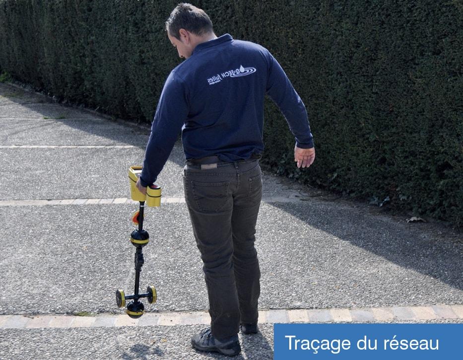 RECHERCHE ET DÉTECTION DE FUITE D'EAU SUR RÉSEAU EXTÉRIEUR